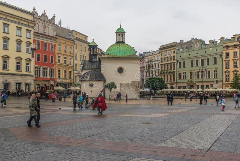 Den gamla staden Krakow, Polen arkivbild