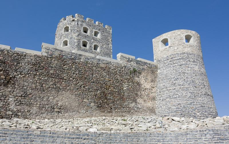 Den gamla stadRabati slotten i Akhaltsikhe i sydliga Georgia arkivfoto
