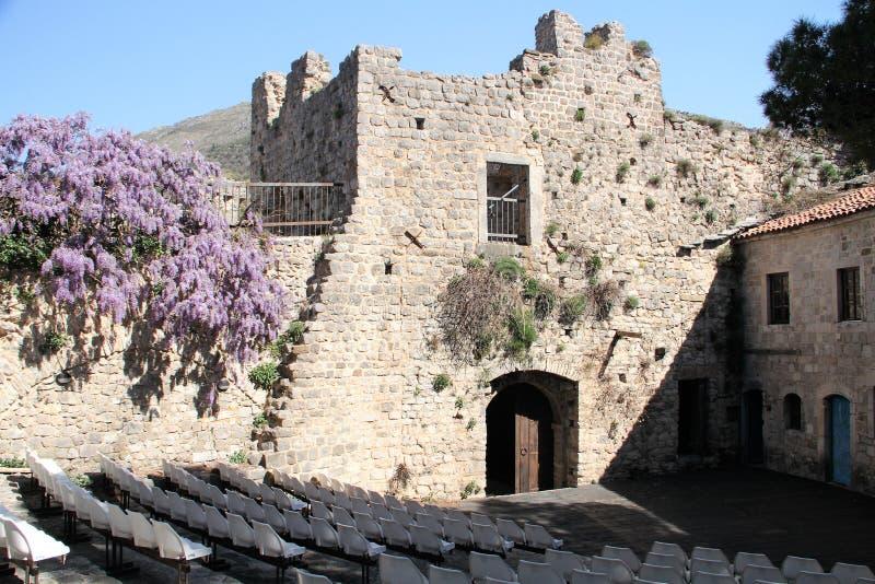 Den gamla stadstången är reko - Montenegro arkivbild