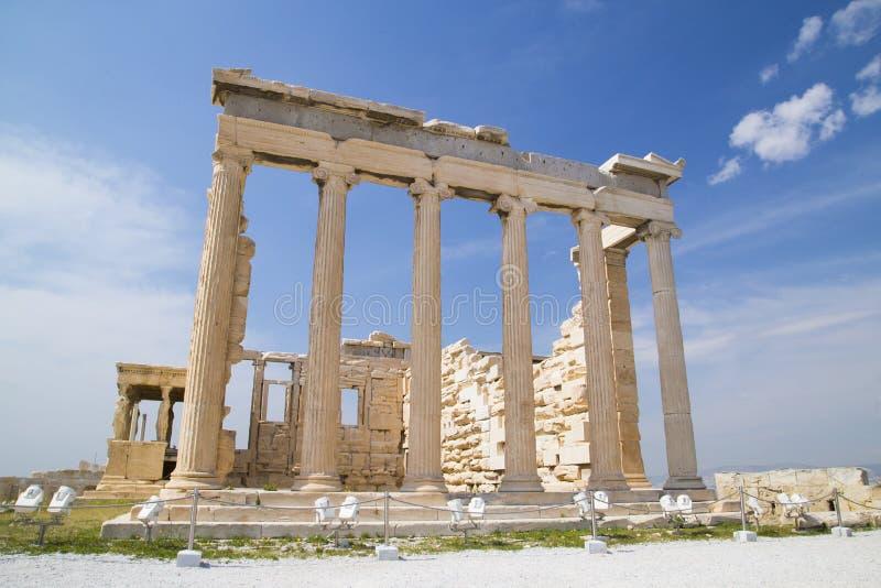 Den gamla templet av Athena i Aten arkivbild
