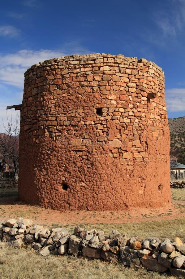 Den gamla Torreonen i Lincoln som är ny - Mexiko arkivbild