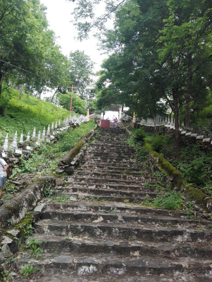 Den gamla trappan royaltyfri foto