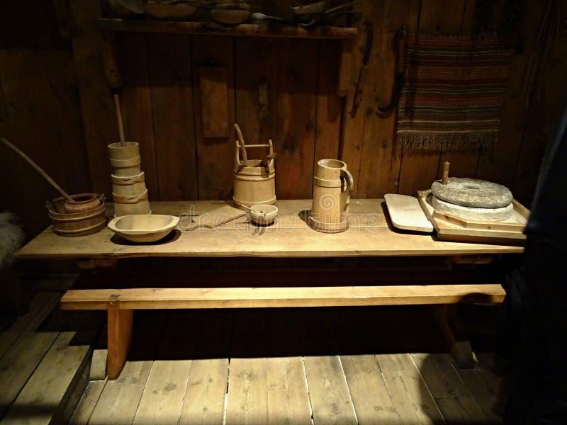 Den gamla viking bosättningen arkivbild