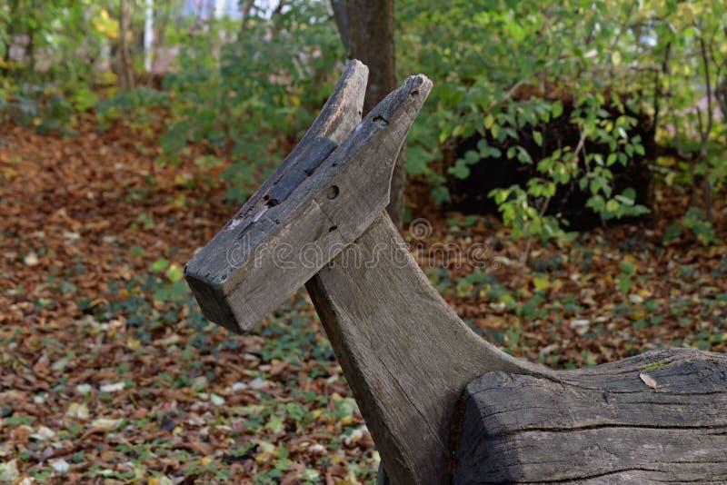 Den gamla wood hästen arkivbild