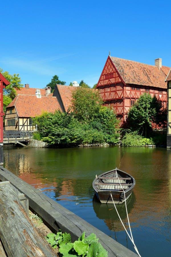 `Den Gamle By` Aarhus, Jutland / Danimarca fotografie stock libere da diritti
