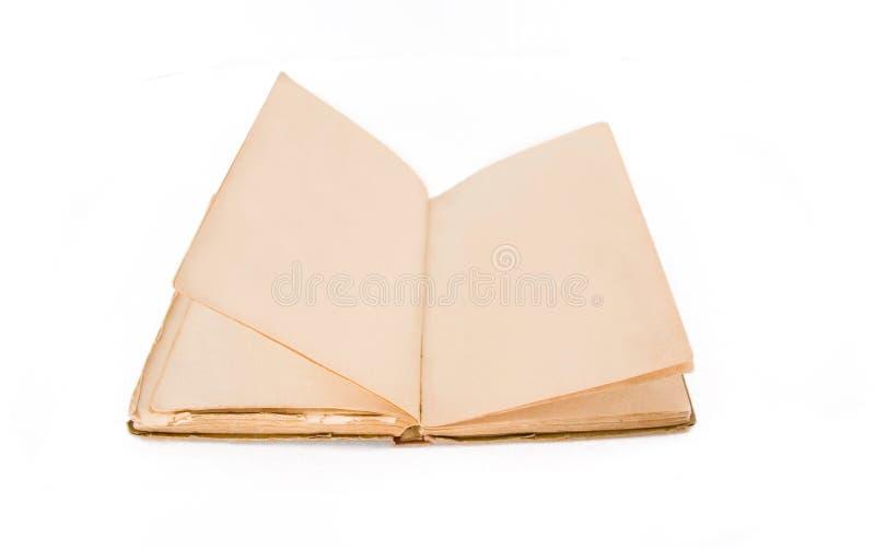 den gammala blanka boken öppnar arkivbild
