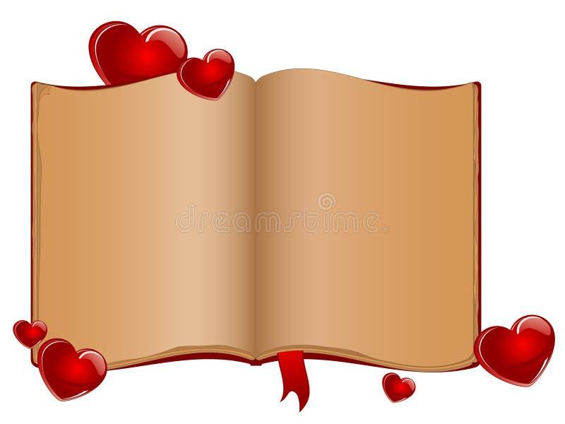 den gammala boken öppnar vektor illustrationer