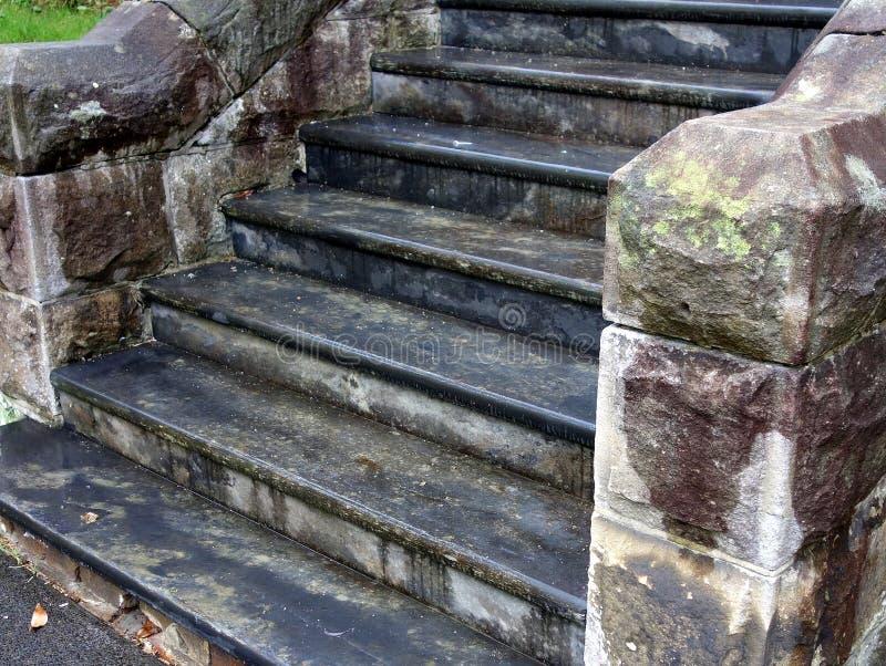Den gammala stenen kliver arkivbilder