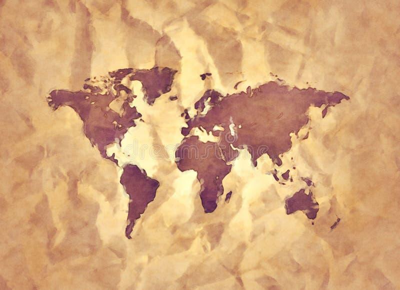 Den gammala världen kartlägger vektor illustrationer