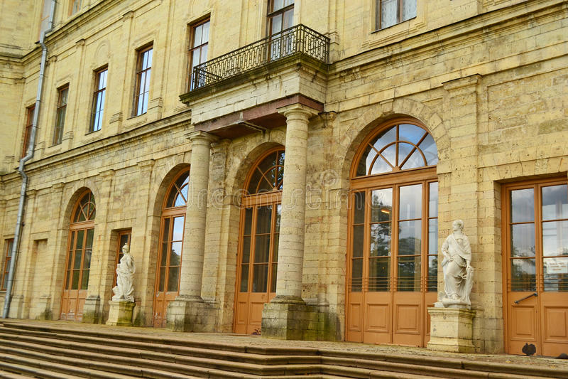 Den Gatchina slotten arkivbilder