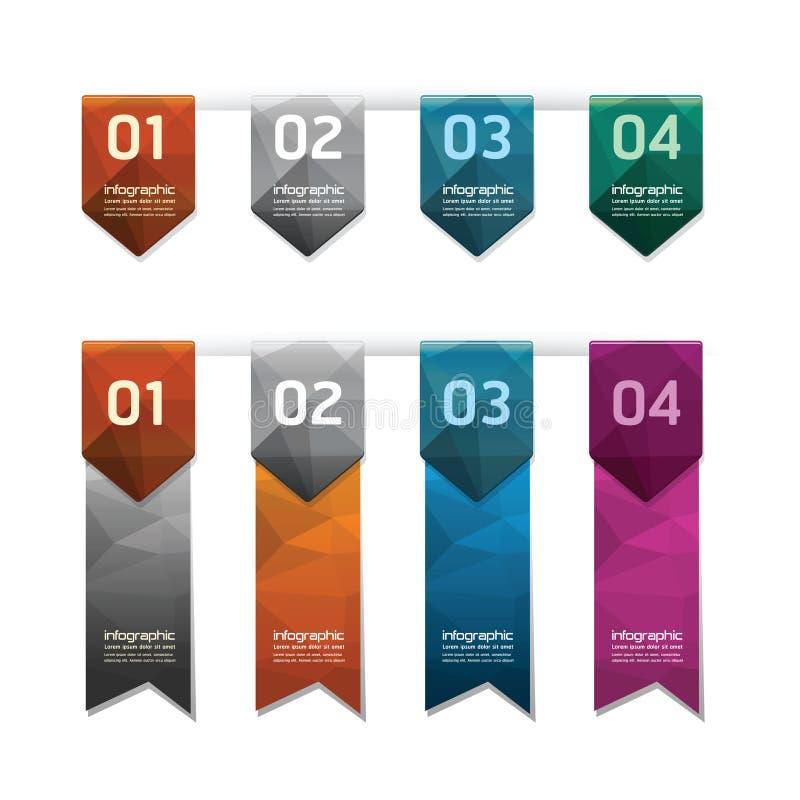 Den geometriska färgrika knappen för den moderna designen/kan användas för infogr royaltyfri illustrationer