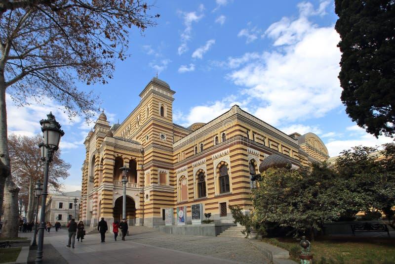 Den georgiska nationella opera- och balettteatern av Tbilisi fotografering för bildbyråer