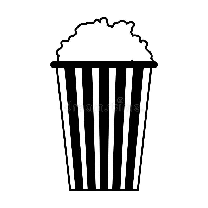 Den gjorde randig hinken med popcorn isolerade design vektor illustrationer