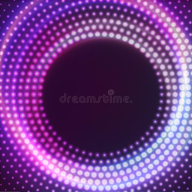 Den glödande rundan med blänker Abstrakt begrepp färgad form för din affärsidé För logobakgrund för vektor redigerbar illustratio royaltyfri illustrationer