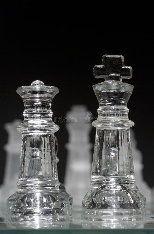 Glass konung & drottning fotografering för bildbyråer