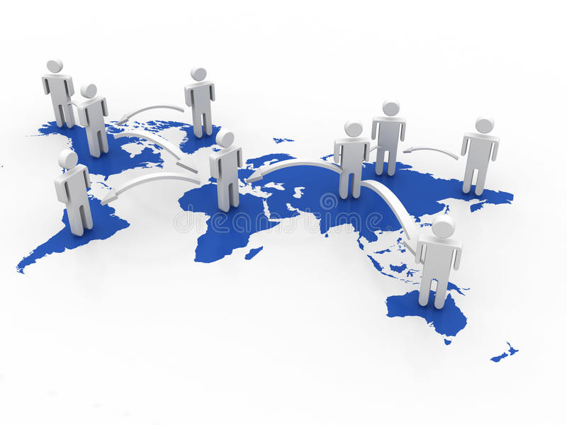 Den globala affären knyter kontakt begrepp royaltyfria foton
