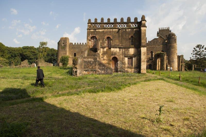 Den gondar slotten, Etiopien royaltyfri fotografi