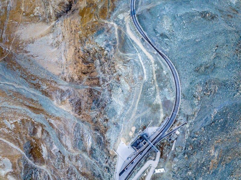 den Gornergrat järnvägsstationen arkivfoto