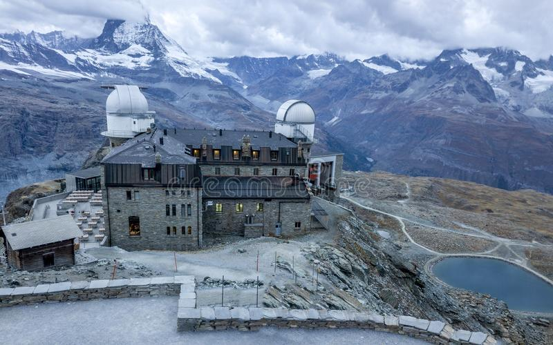 den Gornergrat observatoriet royaltyfri foto