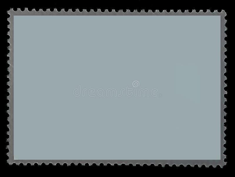 Den gråa grungeportostämpeln vänder om sidan med kanten av arket arkivbilder