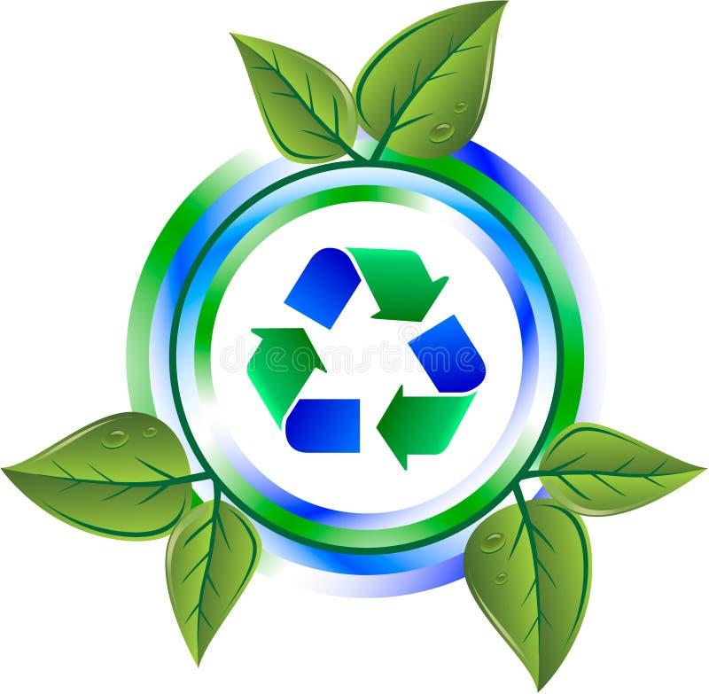 den gröna symbolen återanvänder vektor illustrationer