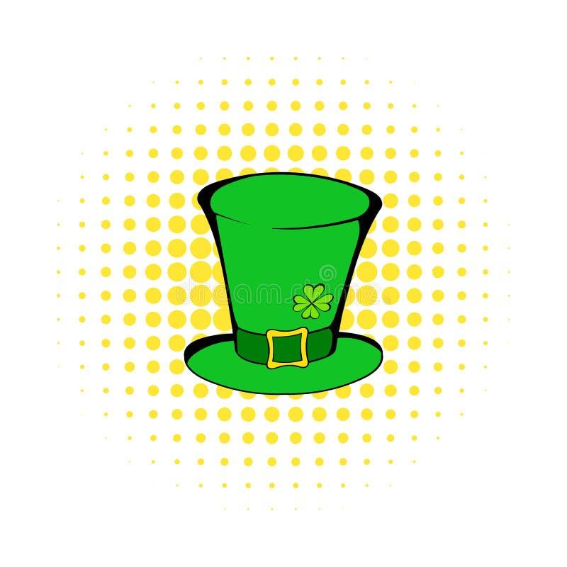 Den gröna symbolen för trollcylinderhatten, komiker utformar vektor illustrationer