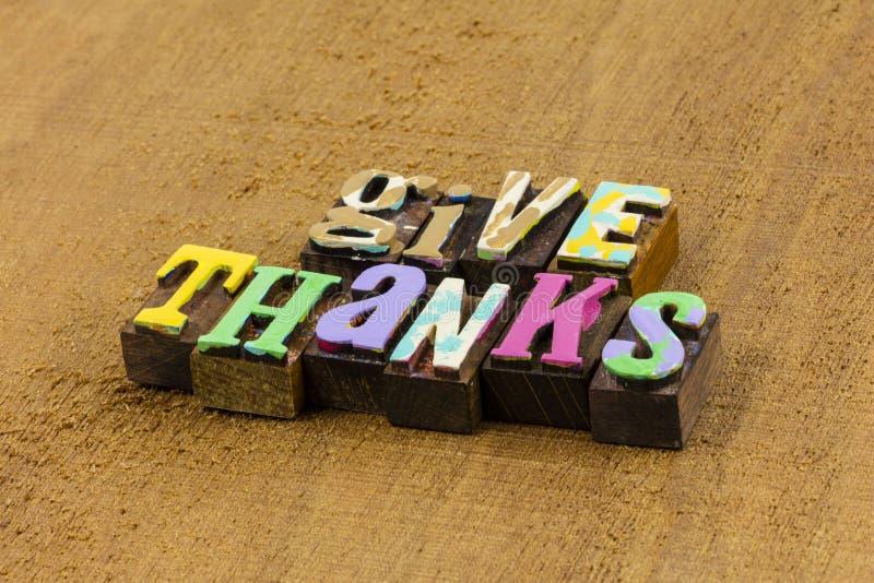 Den gracias gracias corazón agradecido gracias amor imagen de archivo