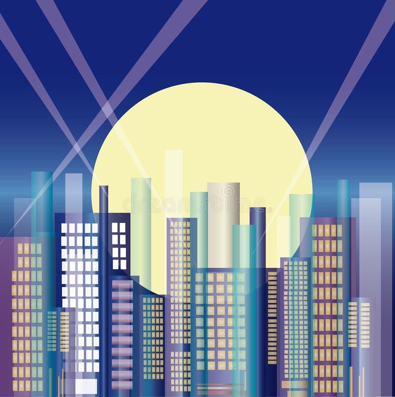 Stad i natten arkivfoto