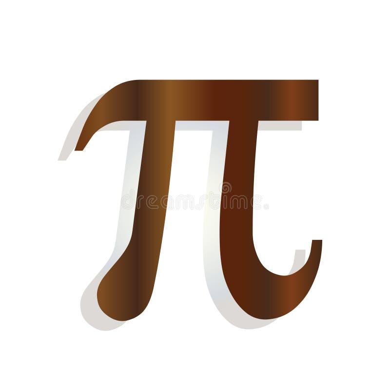 Den grekiska bokstavspi - symbol för matematiskt symbol - skolutbildningbegrepp vektor illustrationer