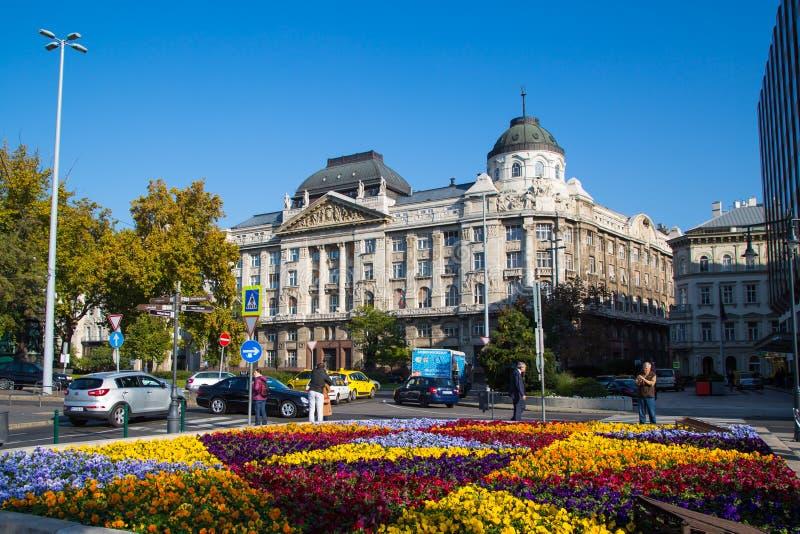 Den Gresham slotten i Budapest royaltyfria bilder