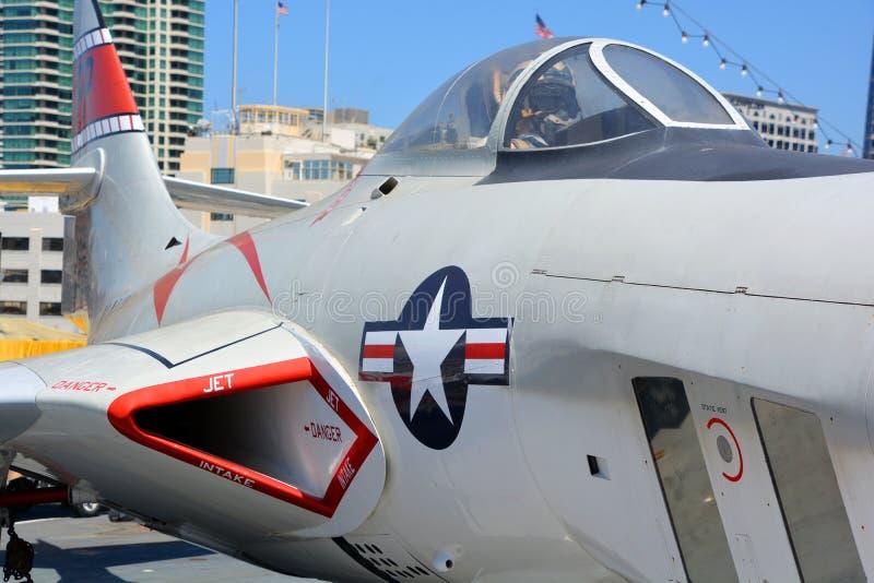 Den Grumman F9F/F-9 puman arkivfoton