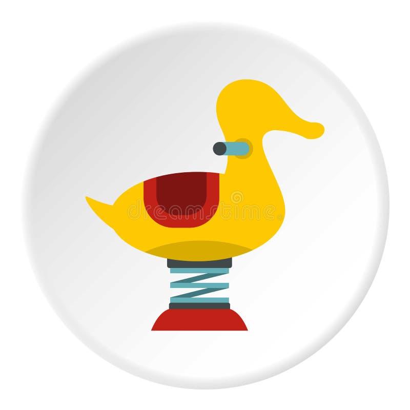 Den gula andvåren ser sågsymbolscirkeln royaltyfri illustrationer