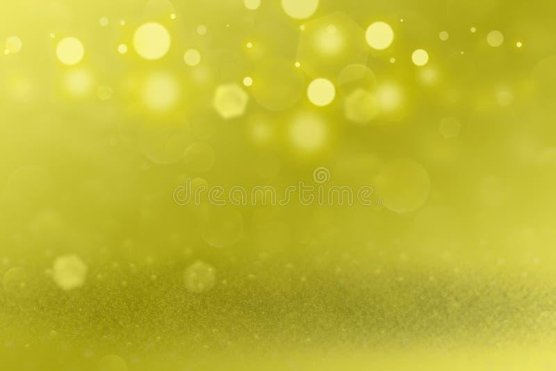 Den gula gulliga brusanden blänker bakgrund för defocused bokeh för ljus abstrakt, feriemodelltextur med tomt utrymme för ditt in vektor illustrationer