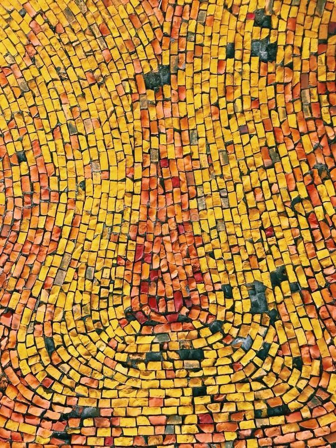 Den gula naturliga mosaiken vaggar arkivbild