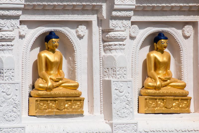 Den guld- Buddha lokaliseras i Wat Thakham, Chiang Mai, Thailand royaltyfri bild