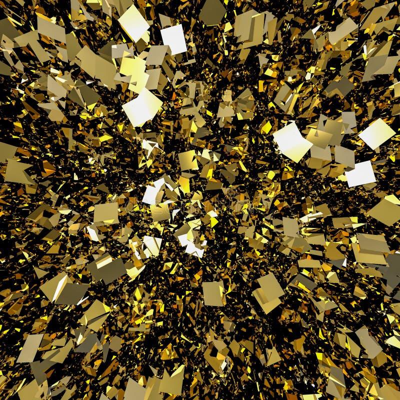 Den guld- flingan blänker bakgrund vektor illustrationer