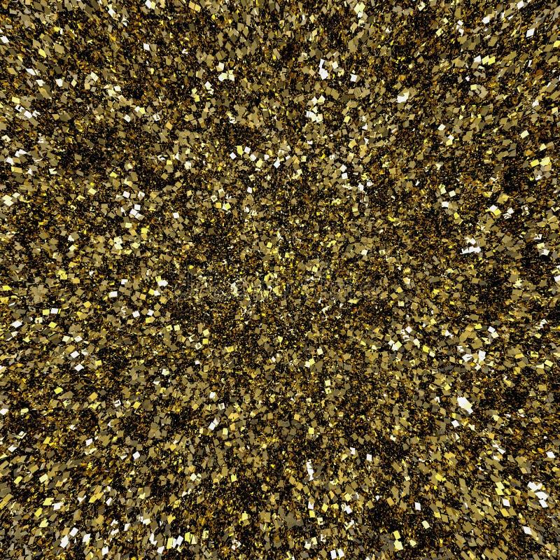 Den guld- flingan blänker bakgrund royaltyfri illustrationer