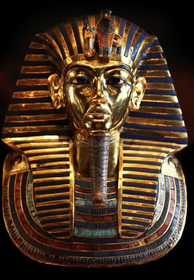 Den guld- maskeringen av konungen Tut Ankh Amen royaltyfri foto