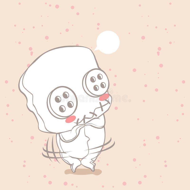 Den gulliga dockan är blyg vektor illustrationer
