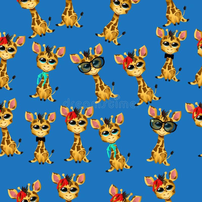Den gulliga giraffet behandla som ett barn royaltyfri illustrationer