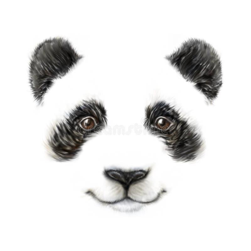 Den gulliga le pandaståenden skissar arkivfoto