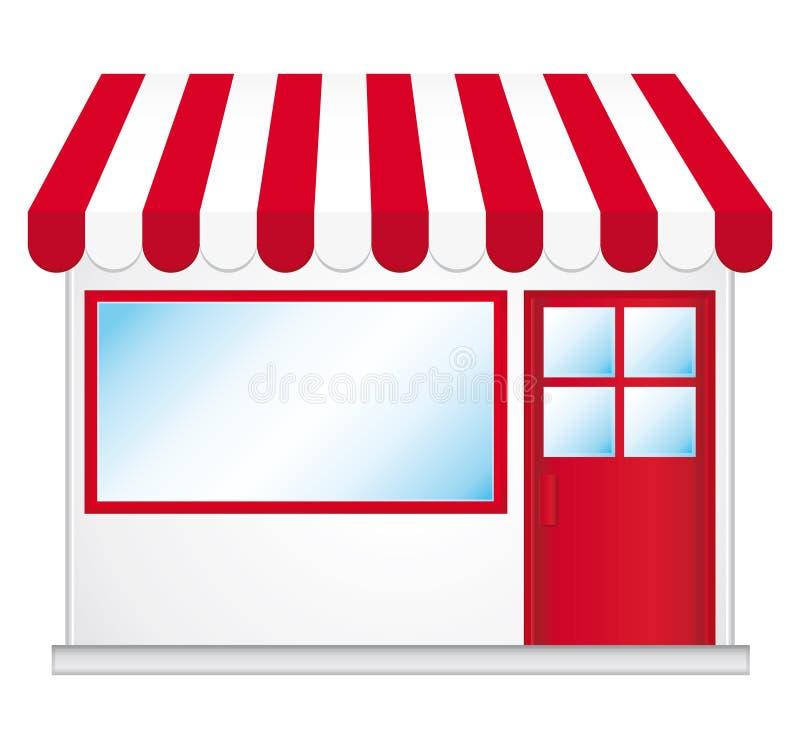 den gulliga symbolen shoppar stock illustrationer