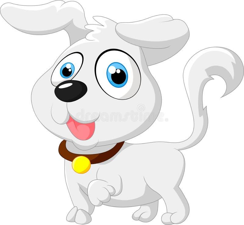 Den gulliga tecknade filmen behandla som ett barn att posera för hund vektor illustrationer