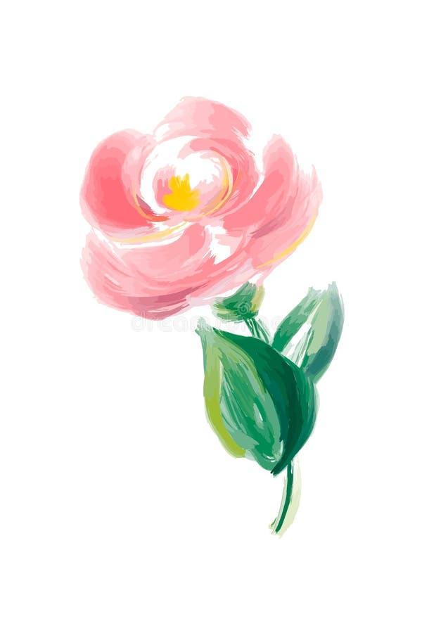 Den gulliga vårvattenfärgblomman steg vektorn Konst isolerat objekt för att gifta sig buketten royaltyfri illustrationer