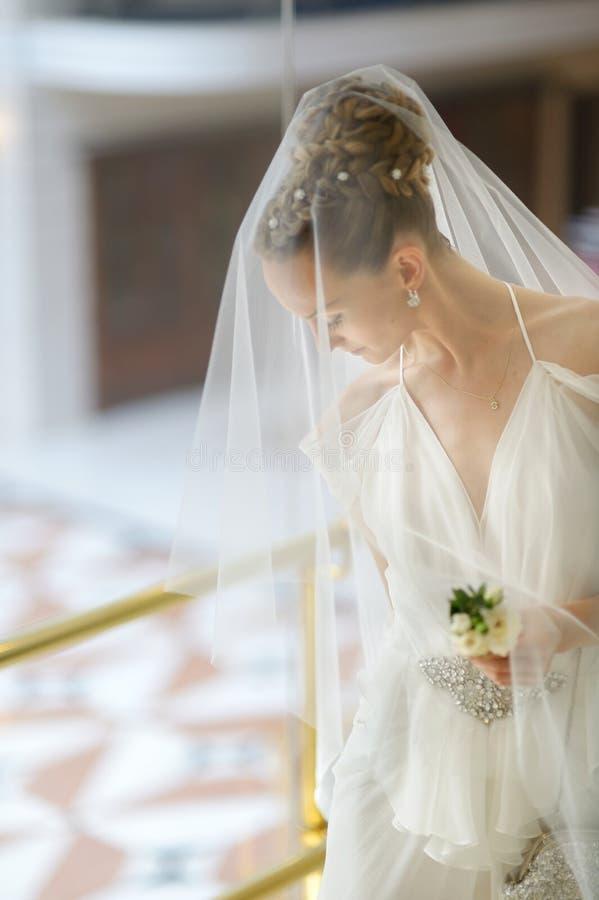 Den härliga bruden royaltyfri foto