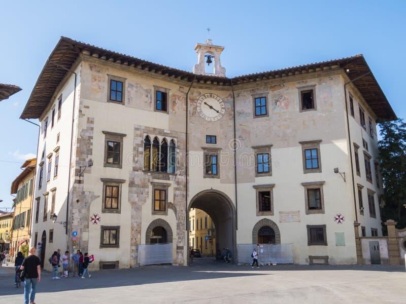 Den härliga Cavalieri fyrkanten i Pisa kallade den Piazza deien Cavalieri - PISA ITALIEN - SEPTEMBER 13, 2017 arkivbilder