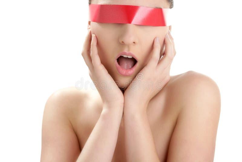 den härliga cosmeticen eyes pappersexerciskvinnan fotografering för bildbyråer