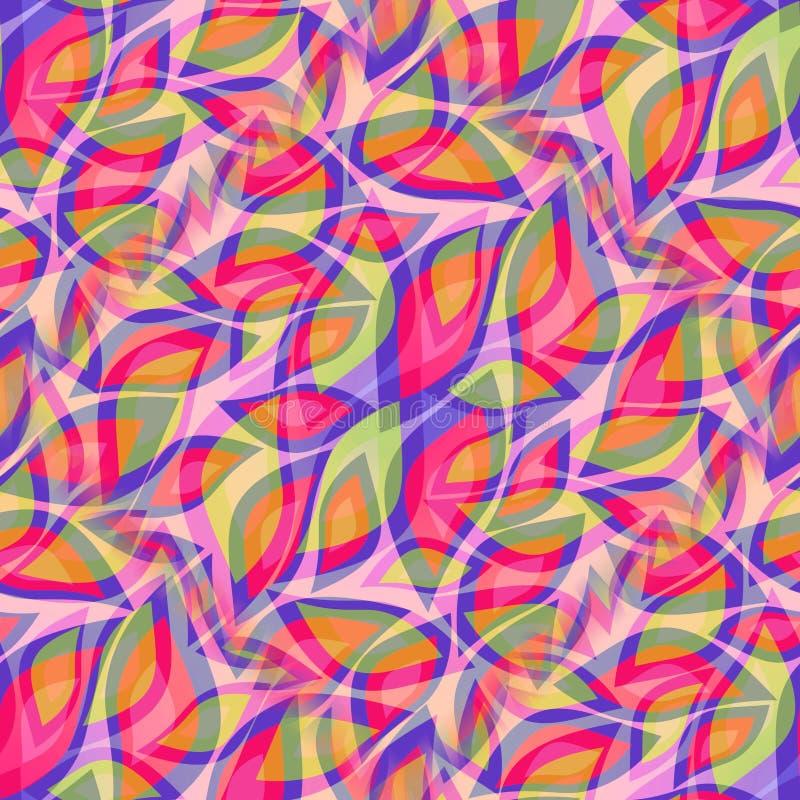 Den härliga dekorativa tegelplattan spricker ut i gladlynta livliga färger vektor illustrationer