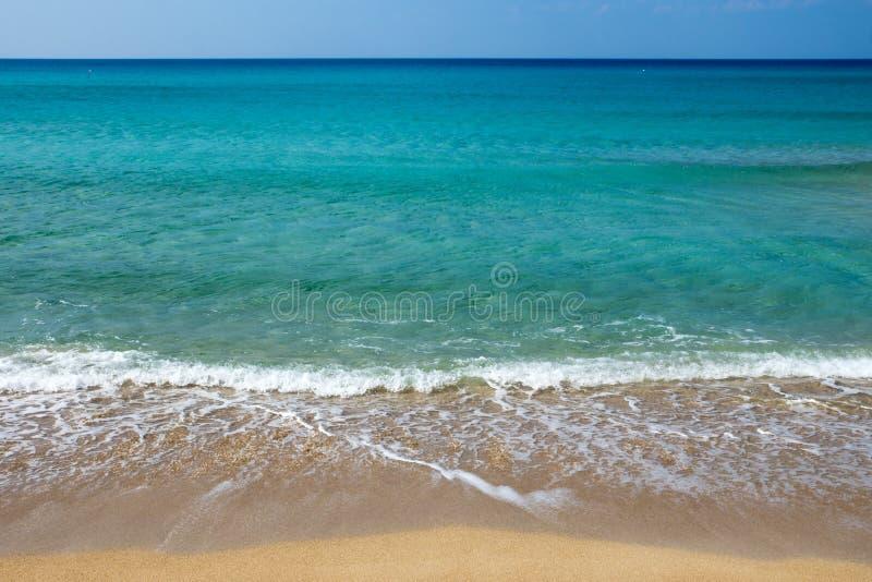 Härlig strand på den Crete ön royaltyfri fotografi