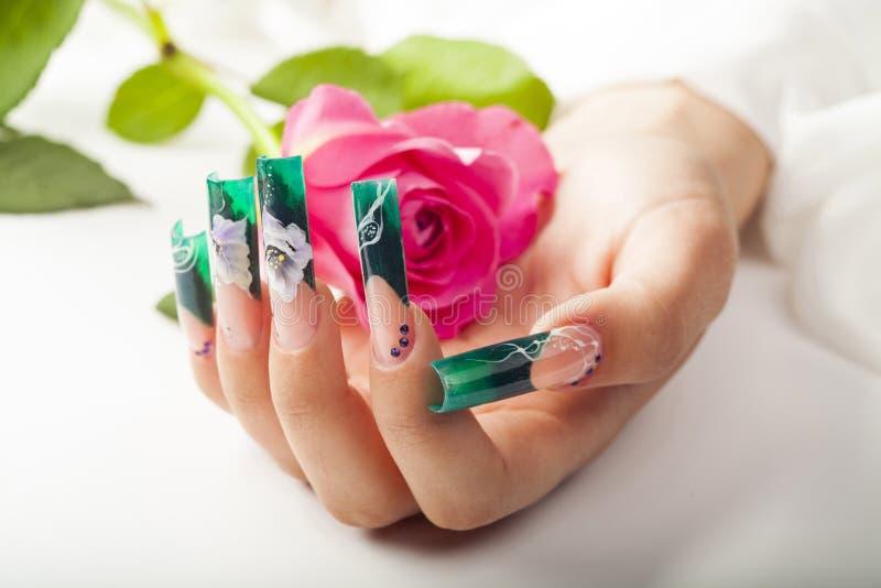 Den härliga fingernageln royaltyfri fotografi